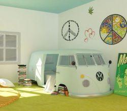 quarto com estilo hippie com kimbi