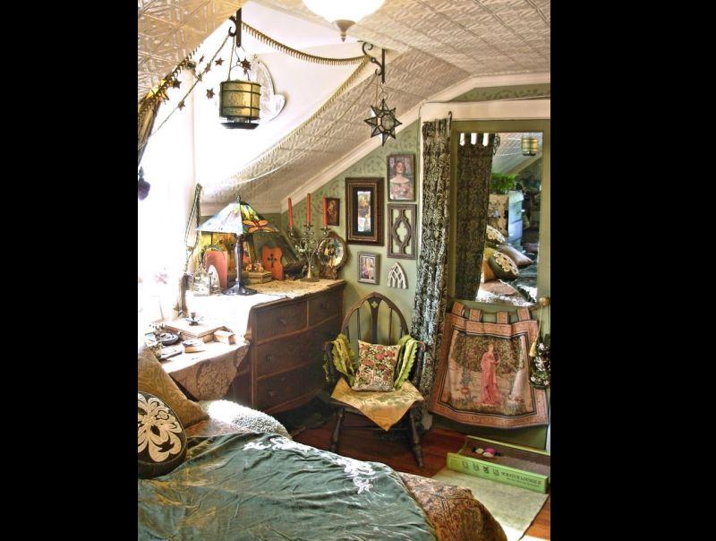 quarto com estilo hippie vintage