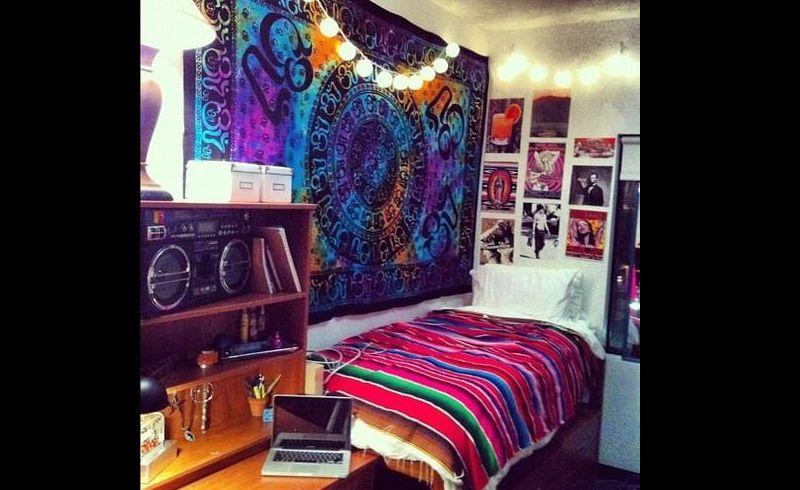 quarto com estilo hippie diferente