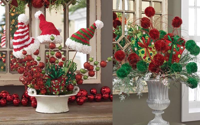 decoração natalina com arranjo