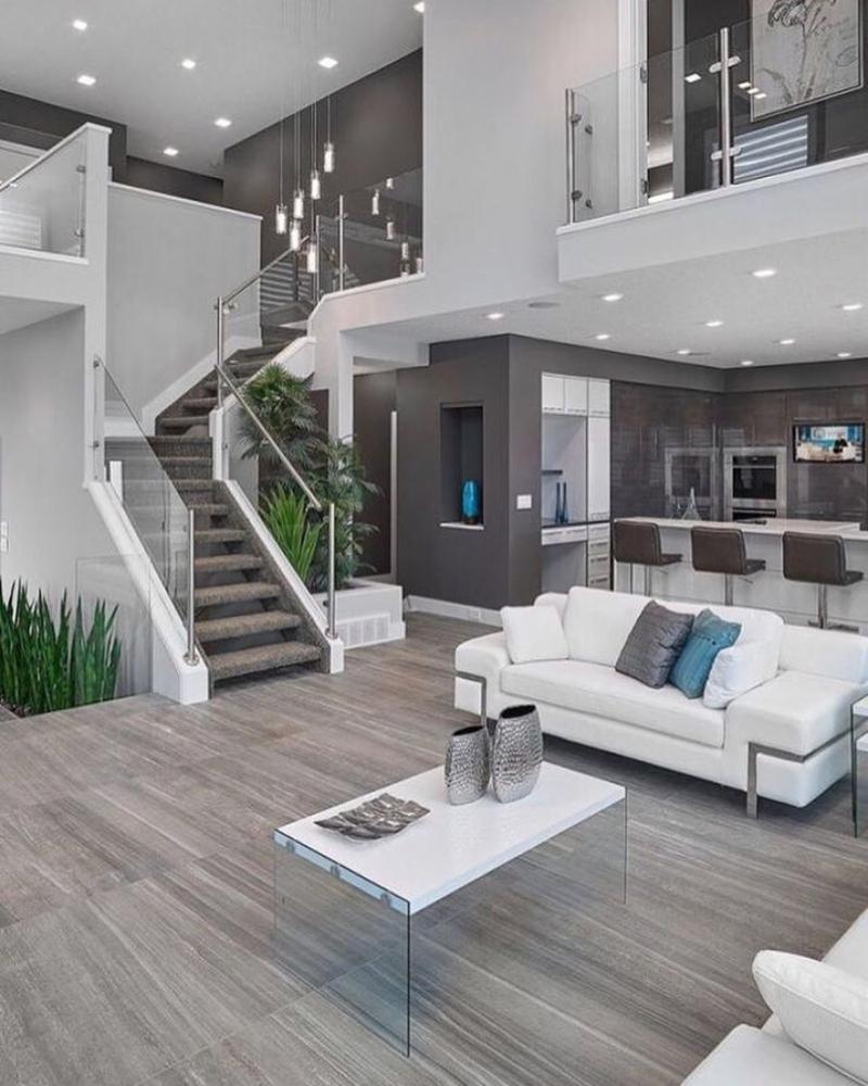 casa linda cinza e branca