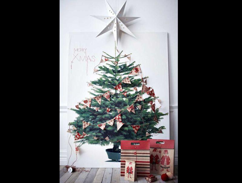 decoração natalina com quadro
