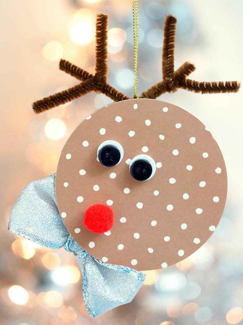 decoração natalina com cd