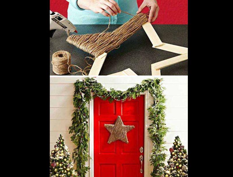 decoração natalina com estrela