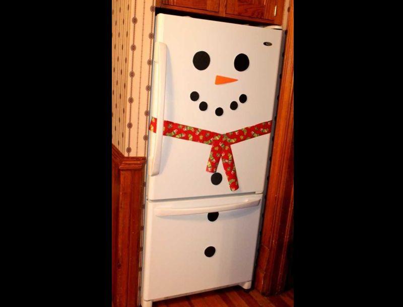 decoração natalina na geladeira