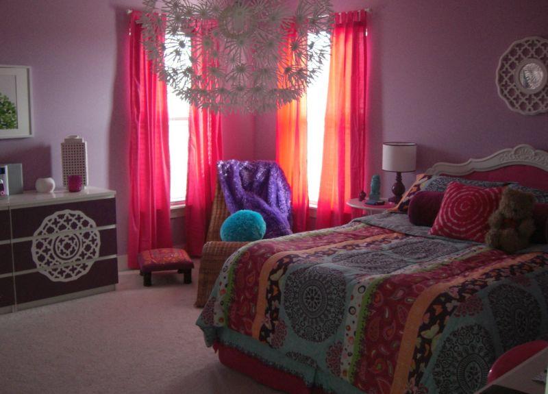 quarto com estilo hippie simples
