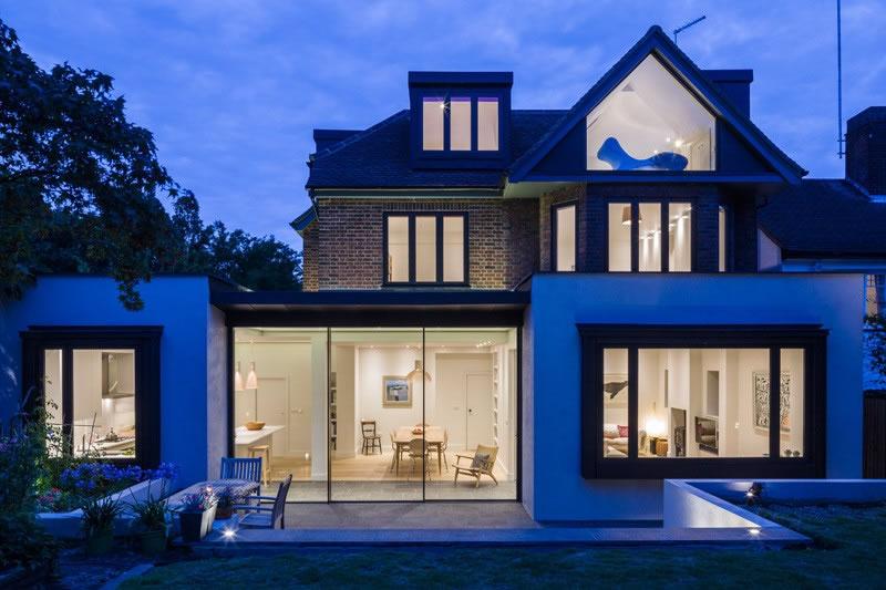 casa linda azul