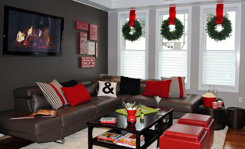 decoração natalina na janela