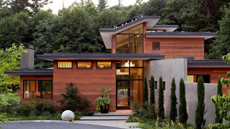 casa linda de madeira
