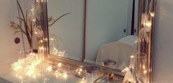 espelho com pisca pisca