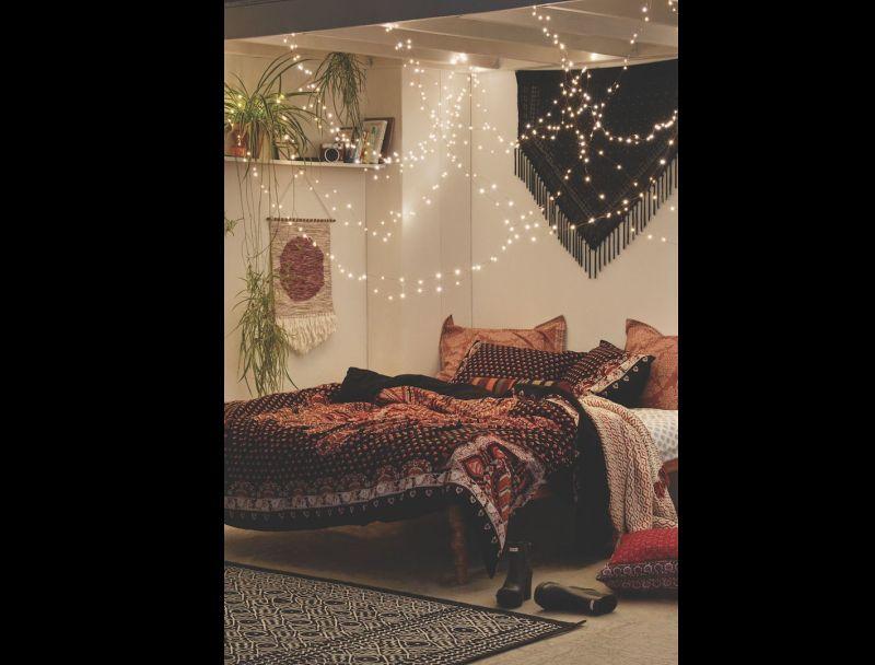 quarto com estilo hippie chic
