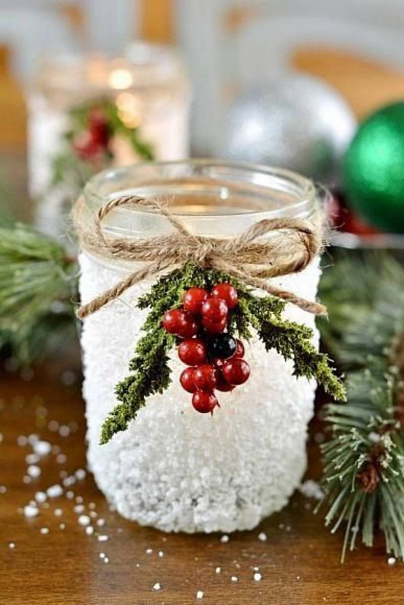 decoração natalina com vidro