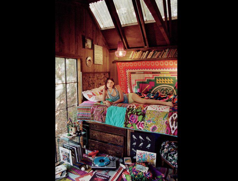 quarto com estilo hippie diferenciado
