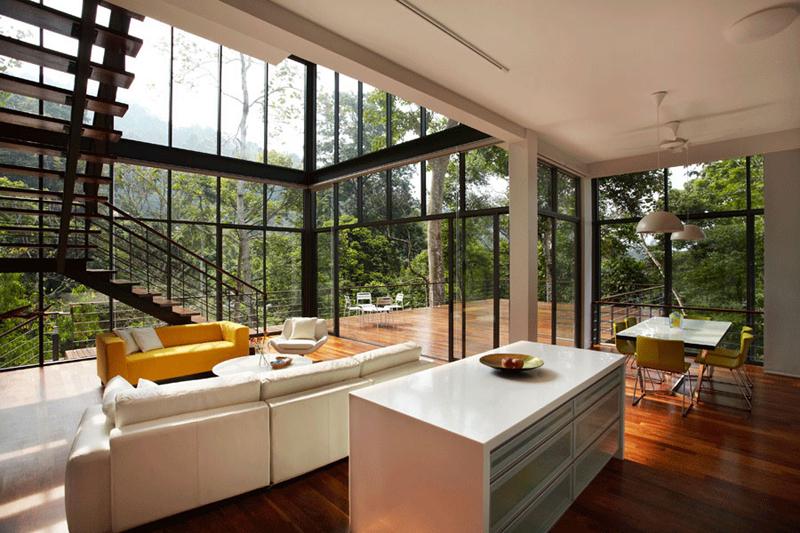 interior simples de casa linda
