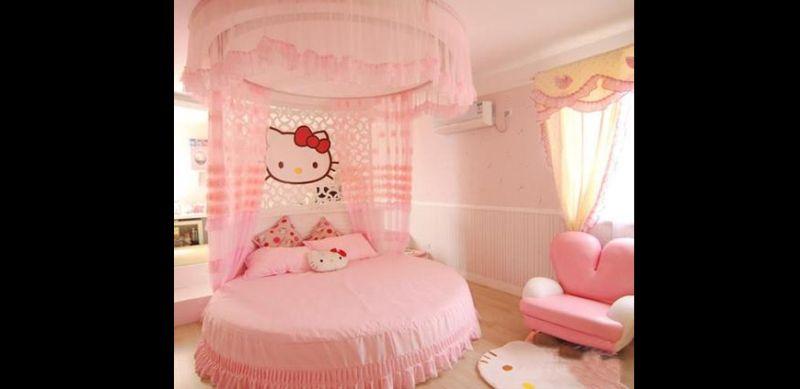 quarto infantil hello kitty