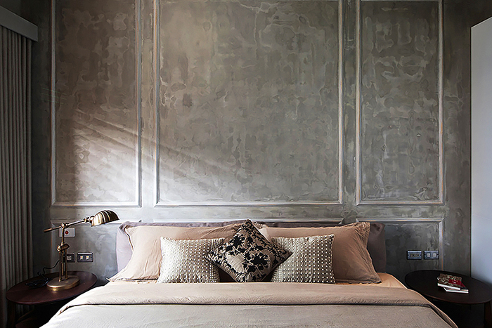 parede com concreto aparente com textura