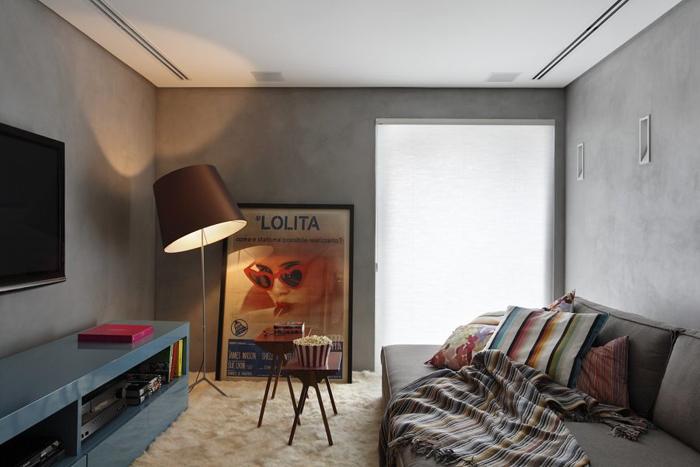parede com concreto aparente vintage