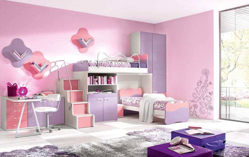 quarto infantil lilas