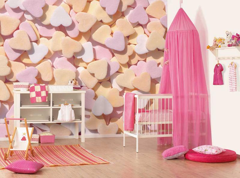 quarto infantil papel de parede 3D