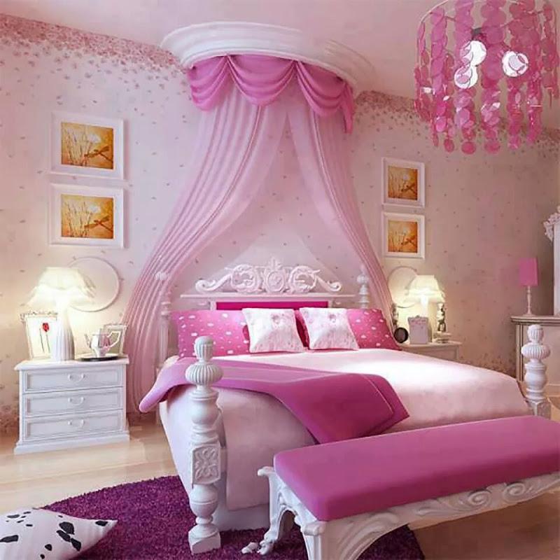 quarto infantil pink
