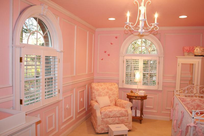 quarto infantil rosado