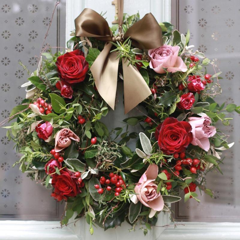 guirlanda natalina flor