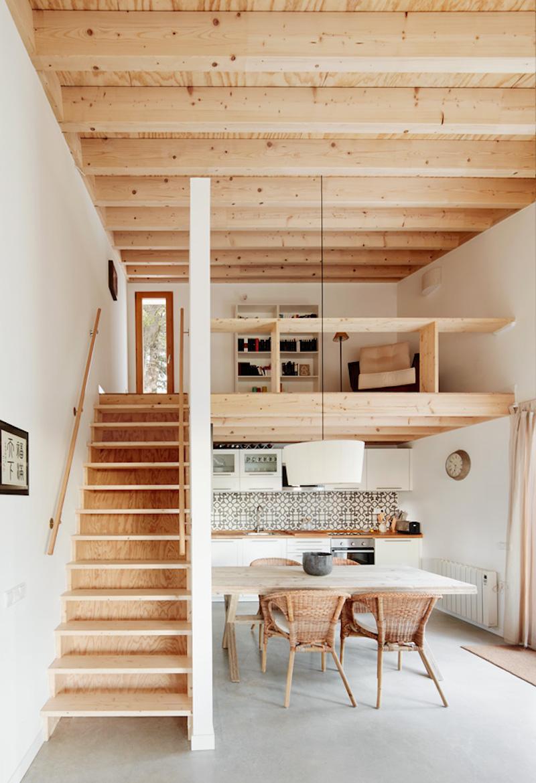 varanda interna de madeira