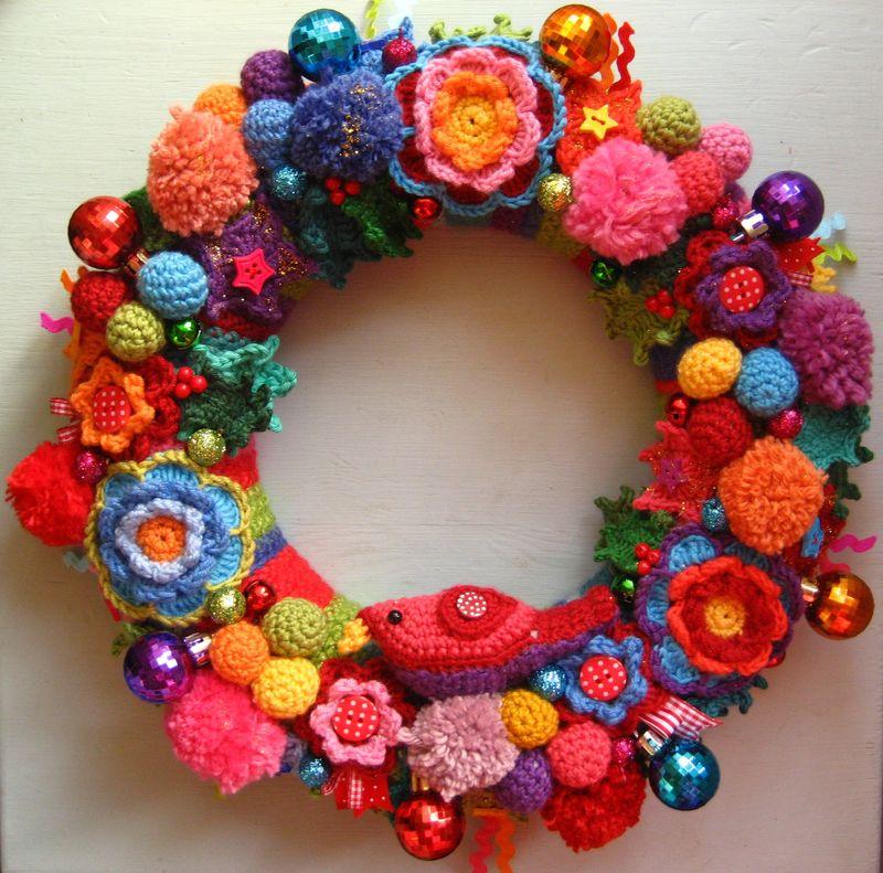 guirlanda natalina flores croche
