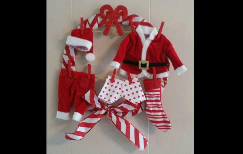 guirlanda natalina roupas