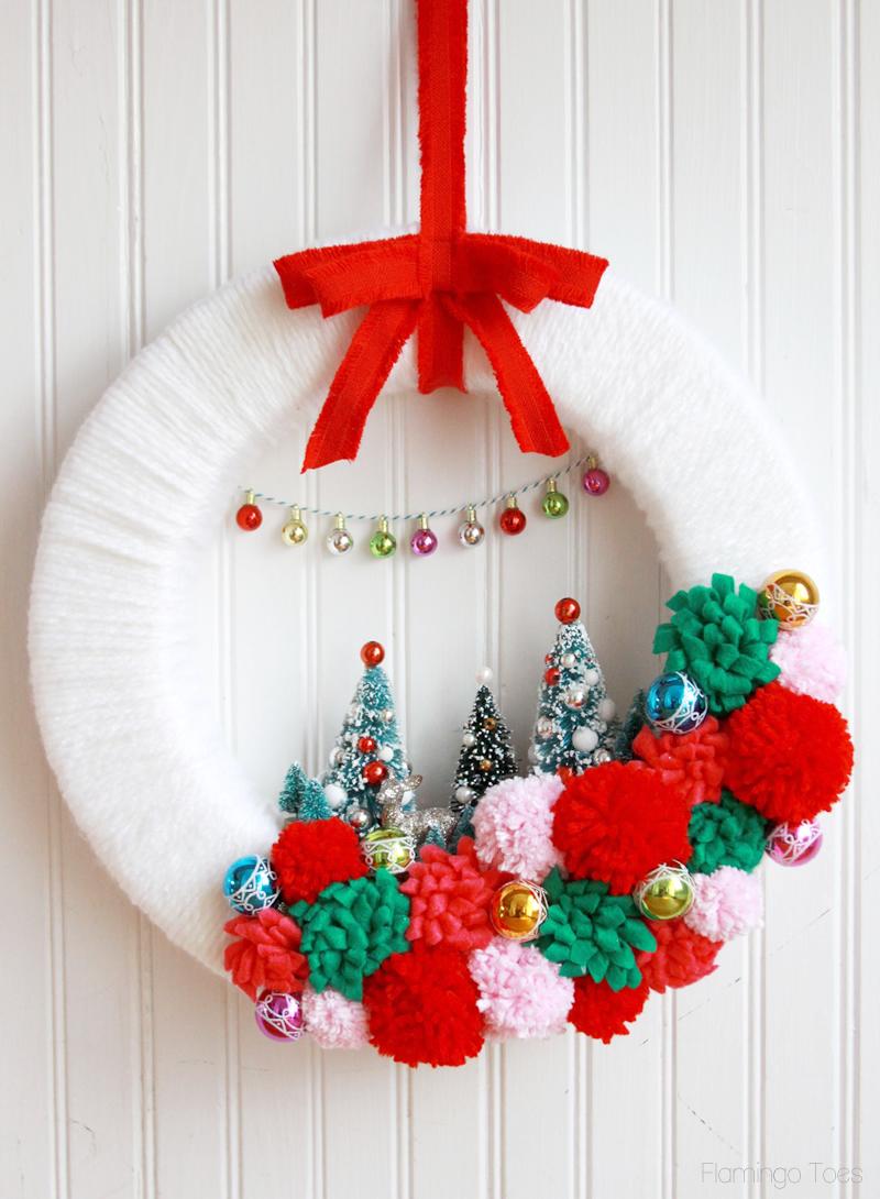 guirlanda natalina lã