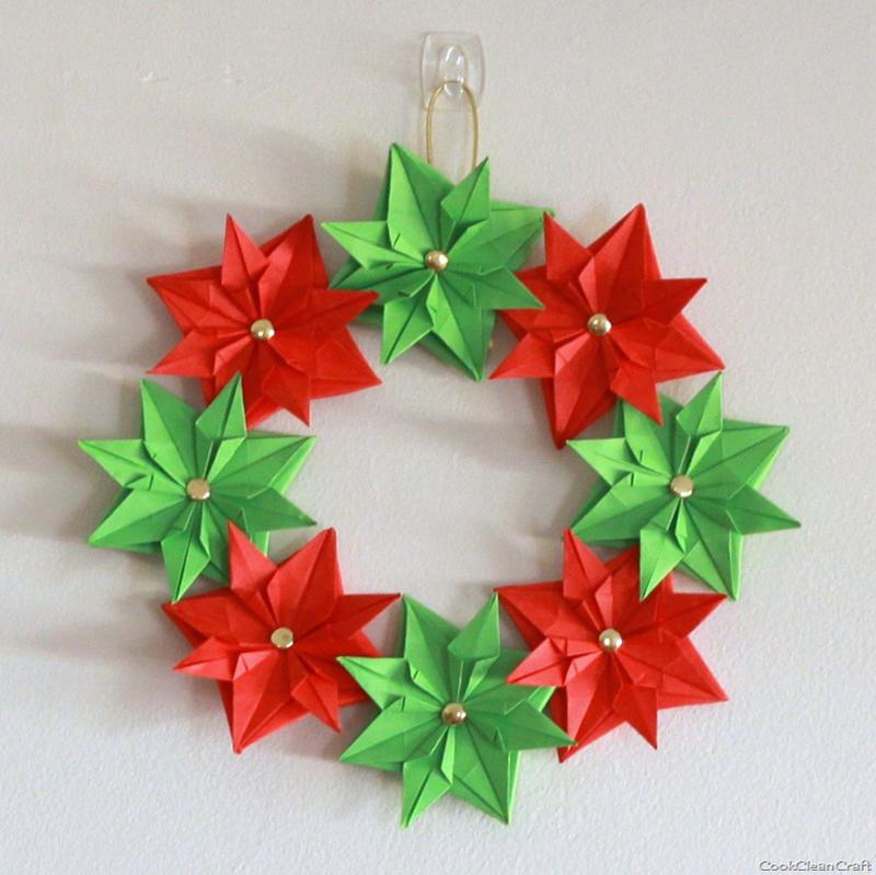 guirlanda natalina origami