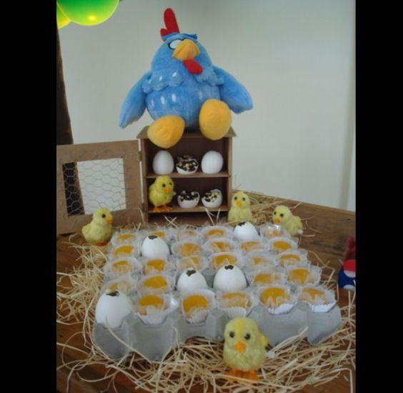 festa da Galinha Pintadinha ovos