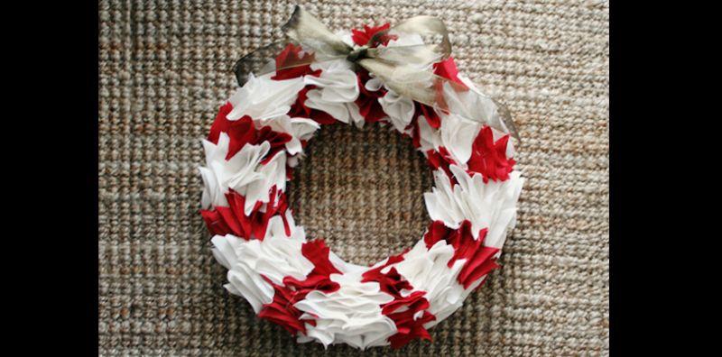 guirlanda natalina feltro