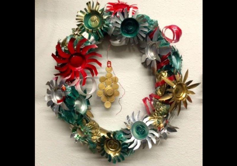 guirlanda natalina reciclaveis