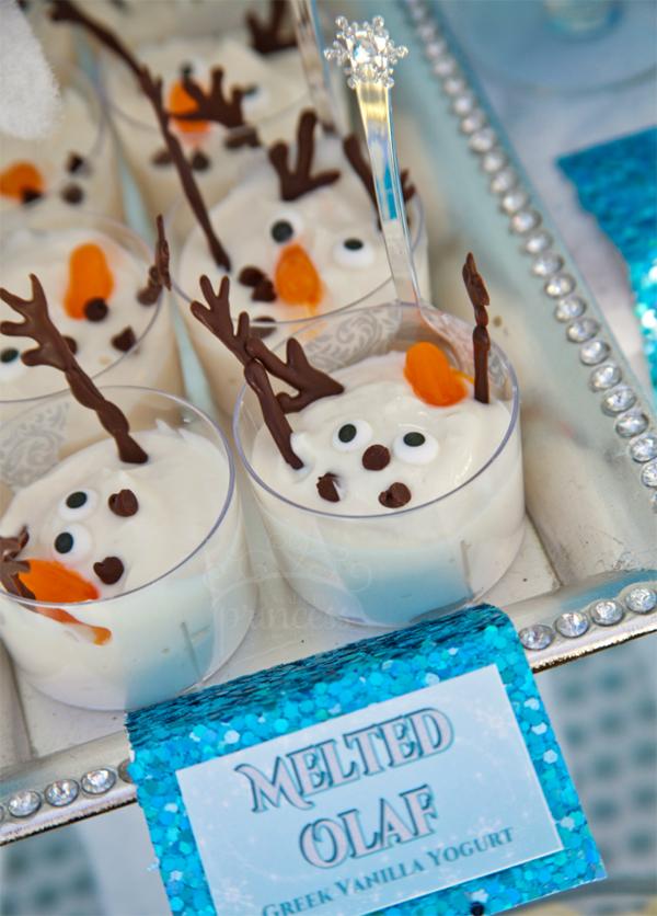 festa Frozen doce olaf