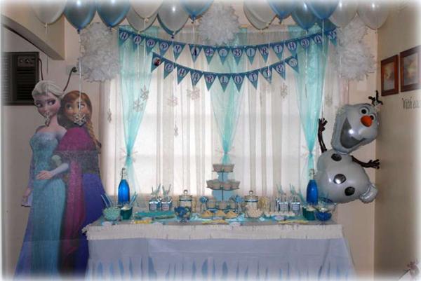 festa Frozen tule e cortina