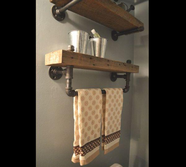 Artesanato em madeira prateleira