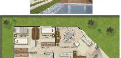 projeto de casa diagonal