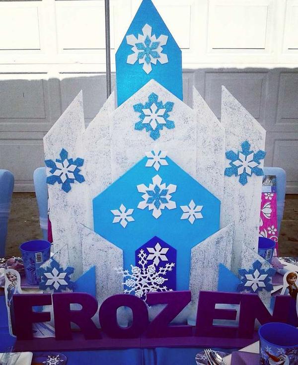 festa Frozen castelo eva