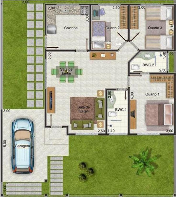 projeto de casa area ventilação