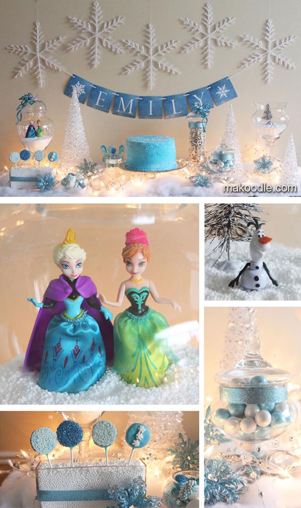festa Frozen bonequinhas