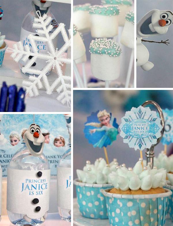 festa Frozen detalhes
