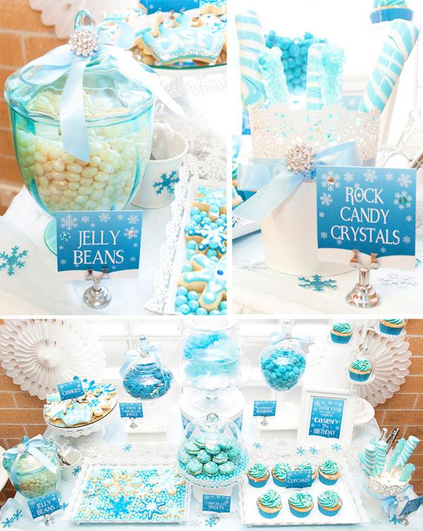 festa Frozen azul