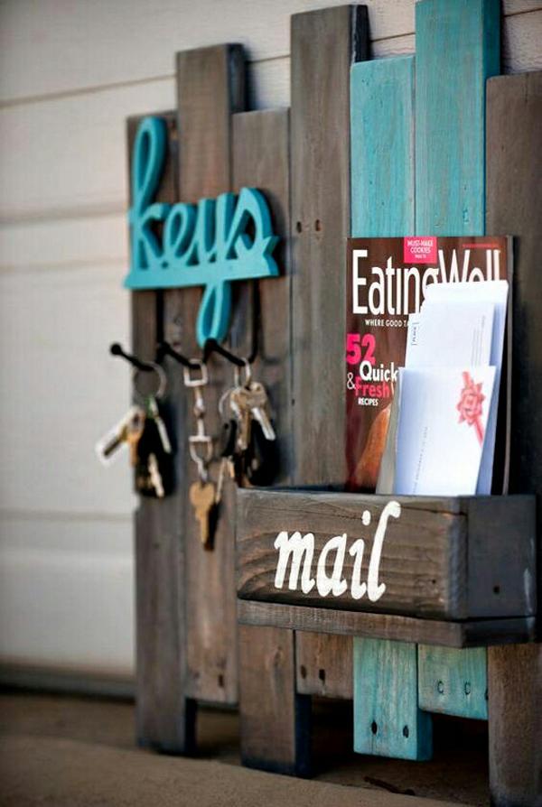 Artesanato em madeira porta chave