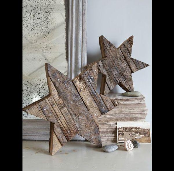 Artesanato em madeira estrelas