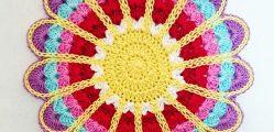 sousplat em croche flor grande