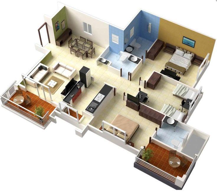 projeto de casa ambientes integrados