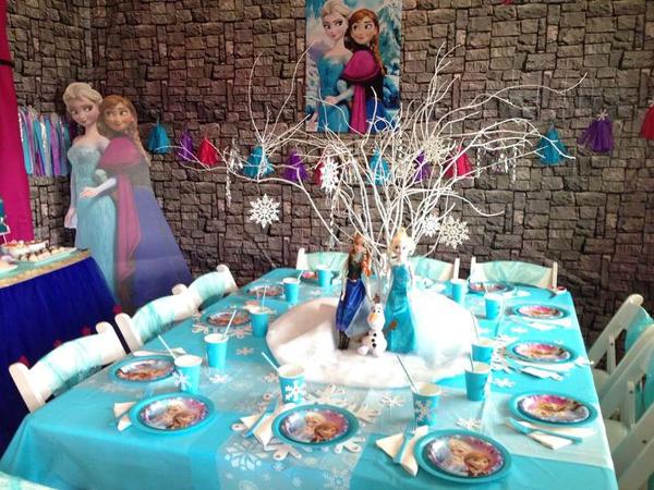 festa Frozen centro de mesa