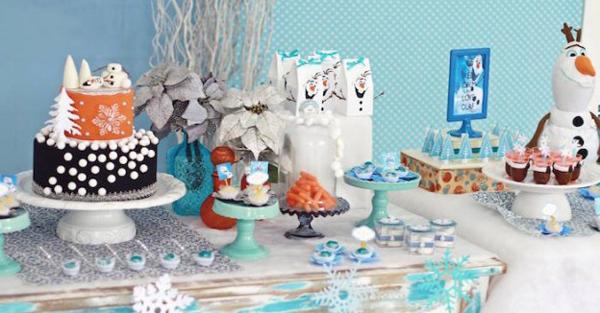 festa Frozen comida