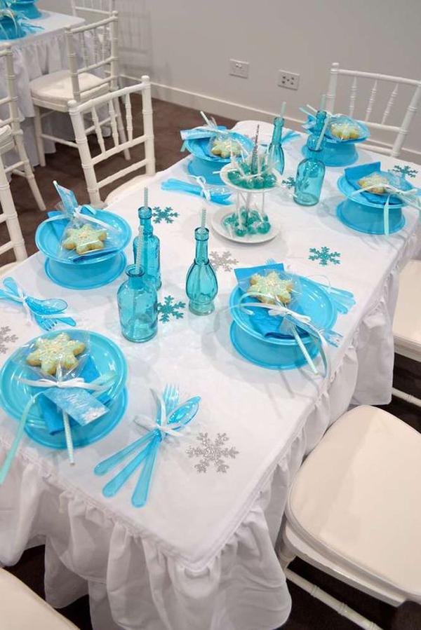 festa Frozen mesa simples
